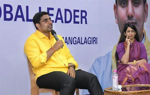 పార్లమెంట్ లో టీవీలు ఆపేసి రాష్ట్రాన్ని విభజించారు : నారా లోకేష్
