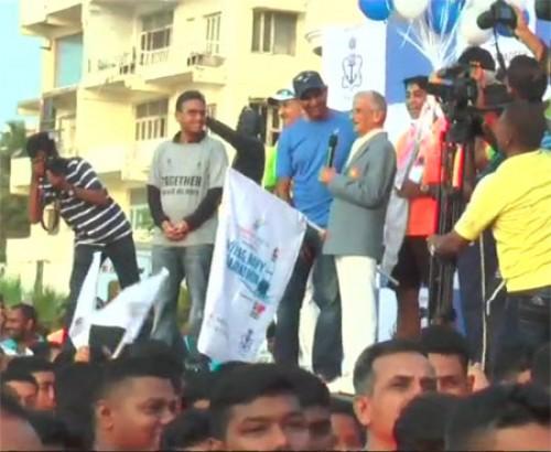 నేవీ మారథాన్ లో ఉత్సాహంగా పాల్గొన్న 14 వేల మంది