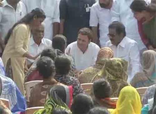 తమిళ జాలర్ల కుటుంబాలను పరామర్శించిన రాహుల్ గాంధీ