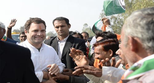 Rahul in Amethi: Congress, BJP fight over a road