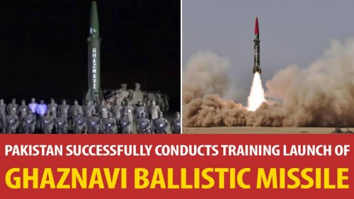 Pak conducts training launch of ballistic missile Ghaznavi