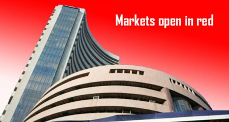 Markets open in red