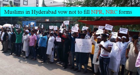 Muslims in Hyderabad vow not to fill NPR, NRC forms