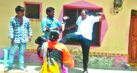 Telangana rural body chief arrested for kicking woman