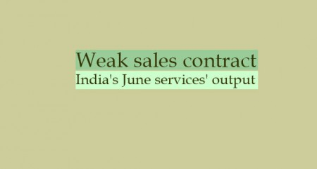 Weak sales contract India's June services' output