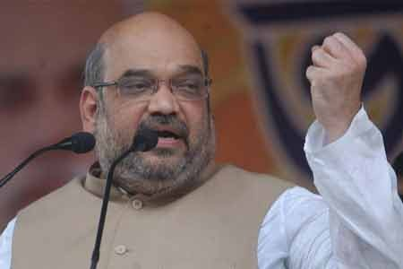 Amit Shah lauds economy boost efforts, attacks Rahul