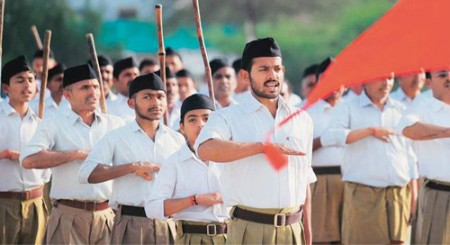Muslims shower flowers during RSS procession in Ajmer