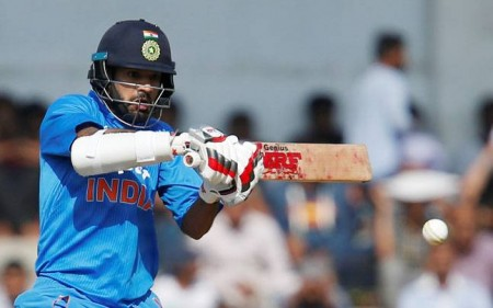 Deodhar Trophy: Dhawan's flashy ton helps India 'Red' down 'Blue'