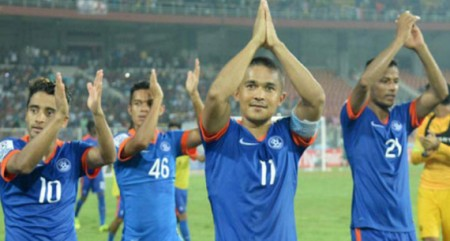 India move up a place to 96th in FIFA rankings