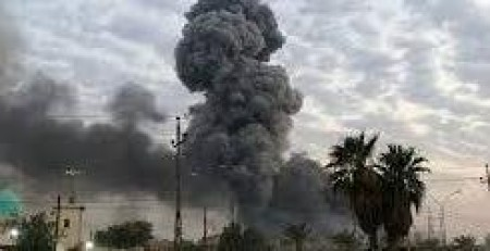 Huge explosion hits ammunition depot in Iraq