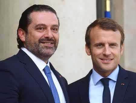 Macron invites Lebanon PM Hariri along with family to France