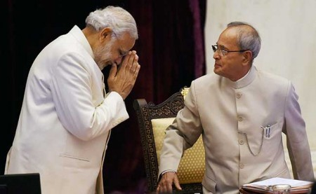 Pranab Mukherjee praises Modi for his transformational changes
